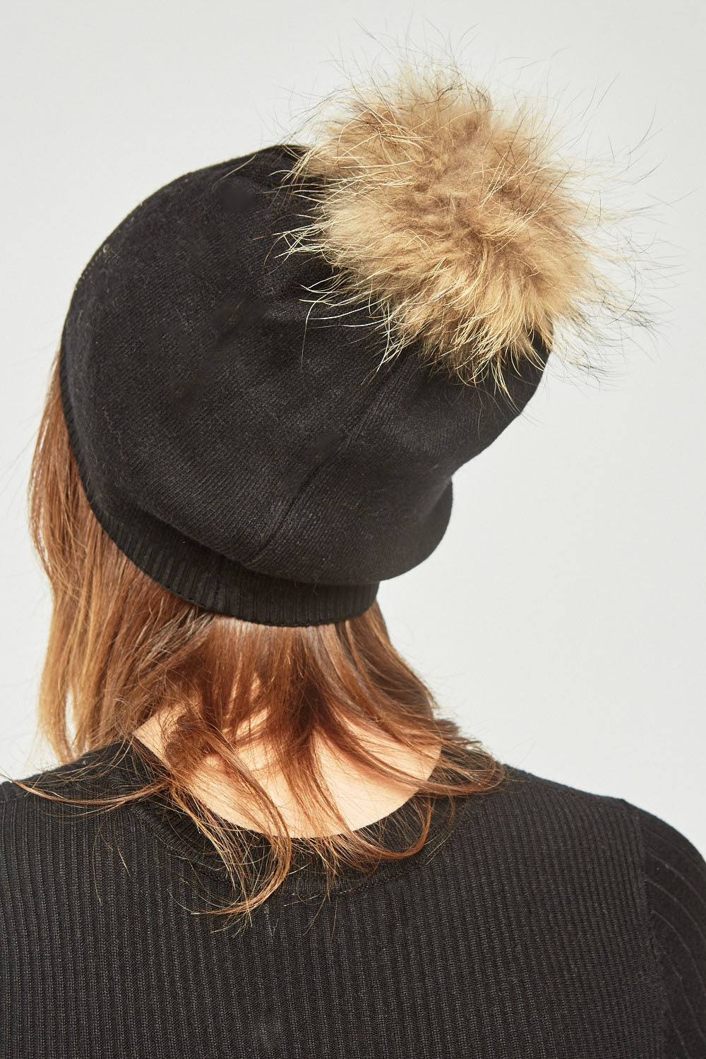 Brielle Fluffy Real Fur Detailed Hat-Woven Trends