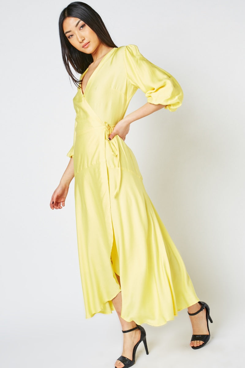 Frances Wrap Midi Dress