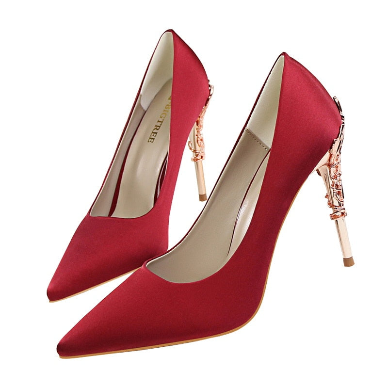 Chic Girl Super High Heel Pump Stiletto Shoes Woven Trends
