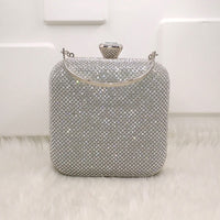 Glam Girl Crystal Detailed Bridal Purse Woven Trends