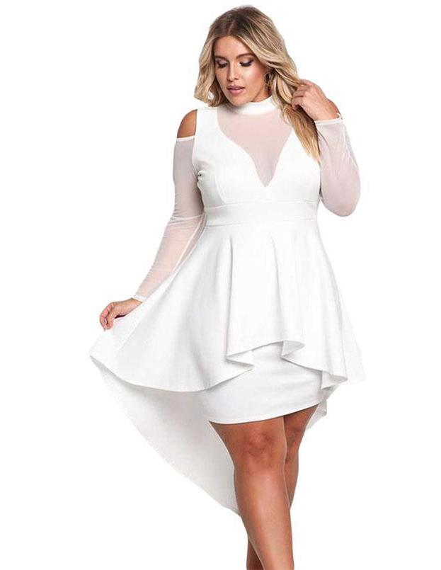 Plus Size Asymmetrical Bodycon Party Dress