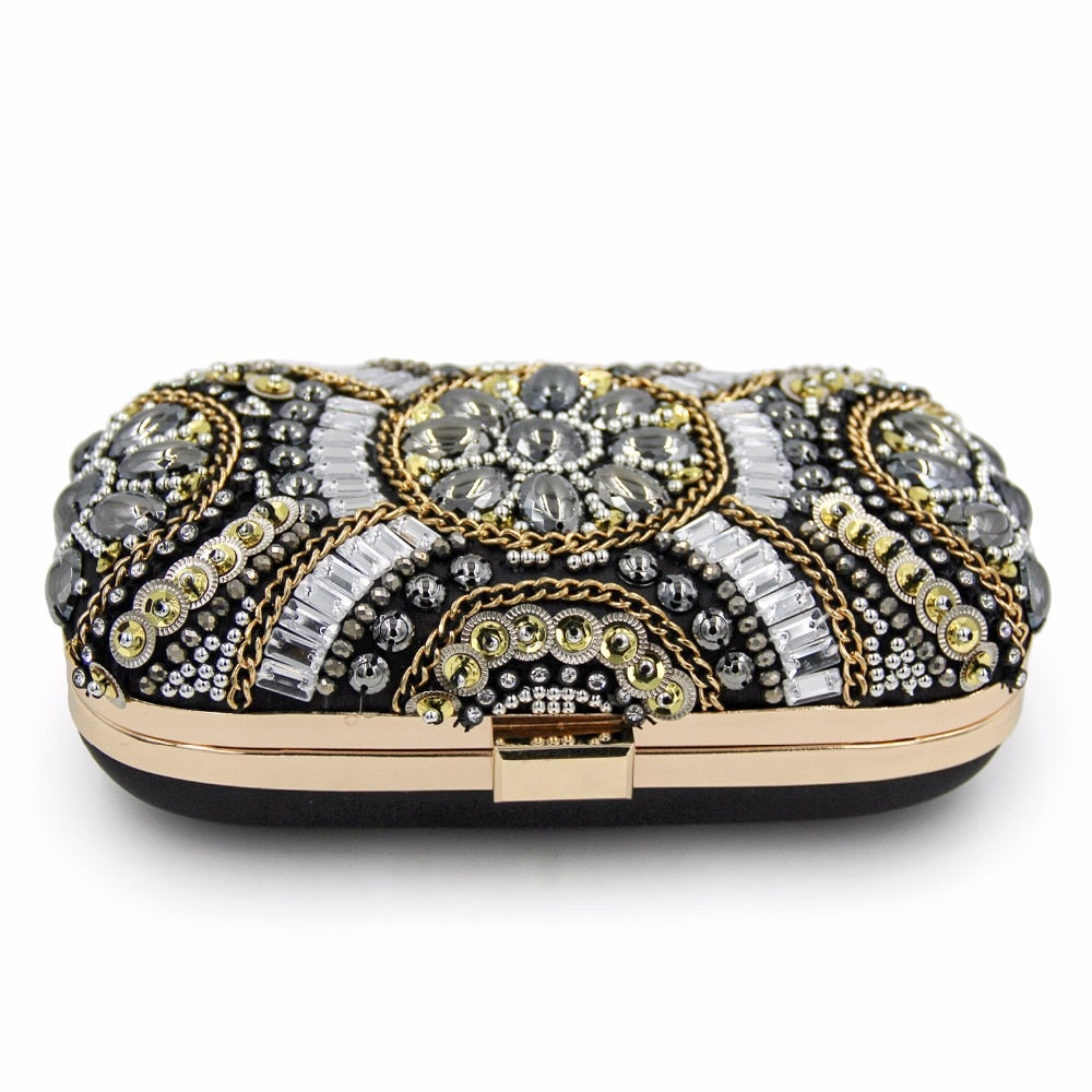 Emily Beaded Wedding Day Clutch Bag Woven Trends
