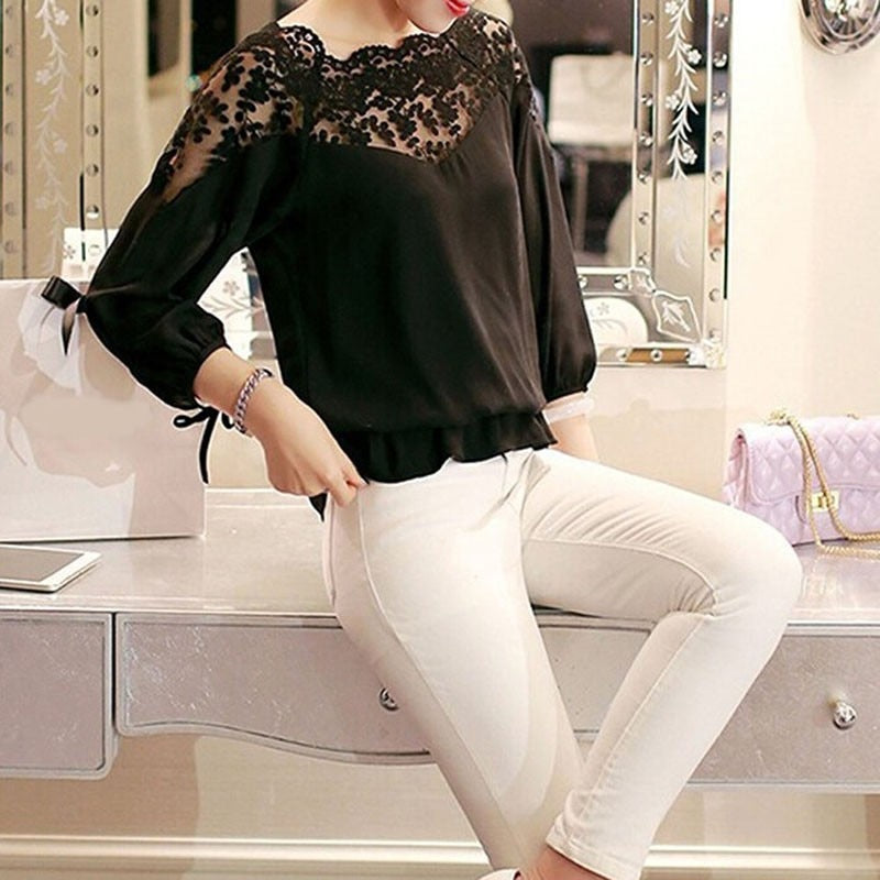 Janet Liva Hollow Casual Blouse