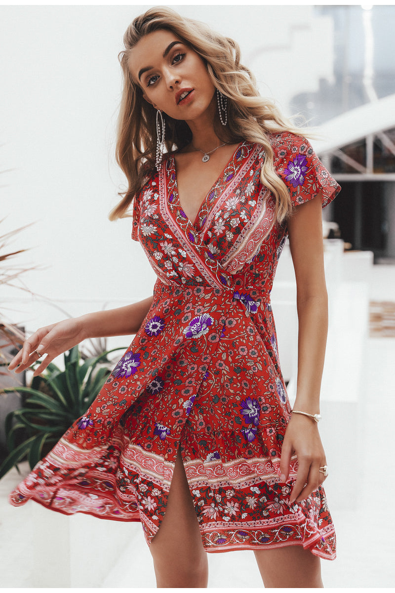 Piper Floral Mini Summer Dress - Woven Trends