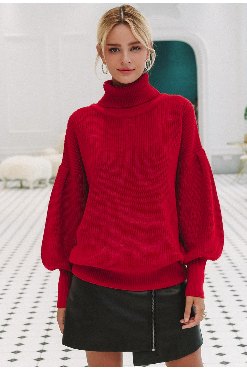 High Turtleneck Sweater Pullover Cardigan Woven Trends