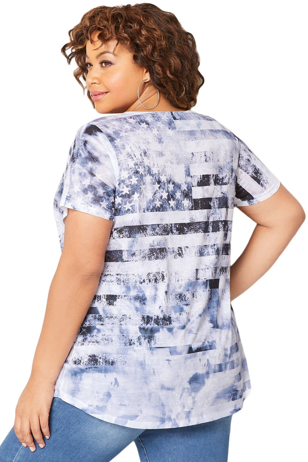 Claudia Casual Print Tee Blouse Woven Trends