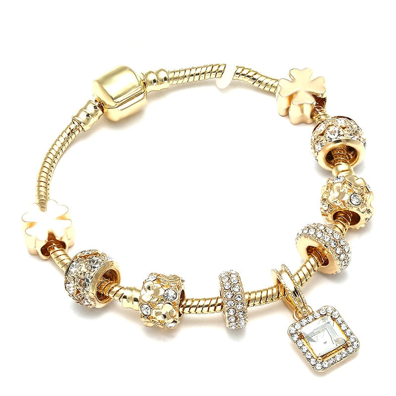 Uptown Girl Plated Charm Bracelet - woven-trends
