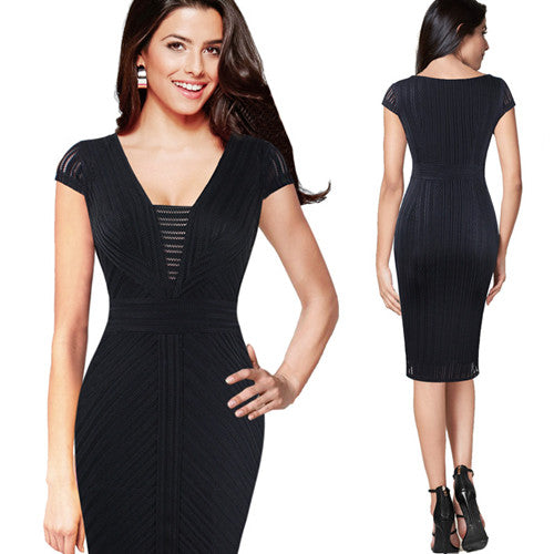 Zidi Slim Casual Cocktail Party Dress