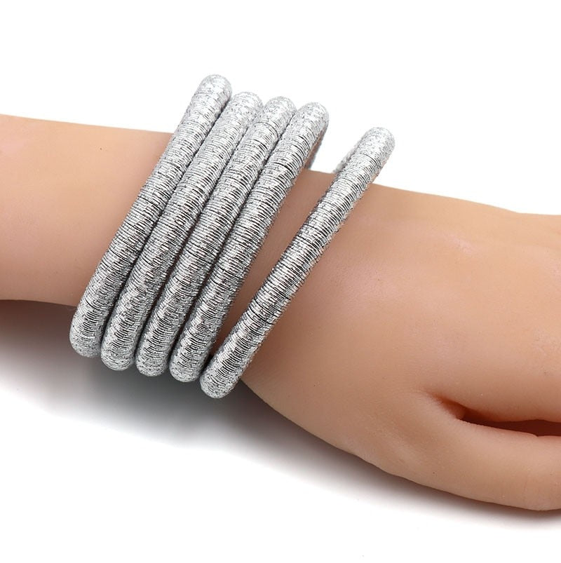 Kim Magnetic Hook Multi Band Bangle - woven-trends