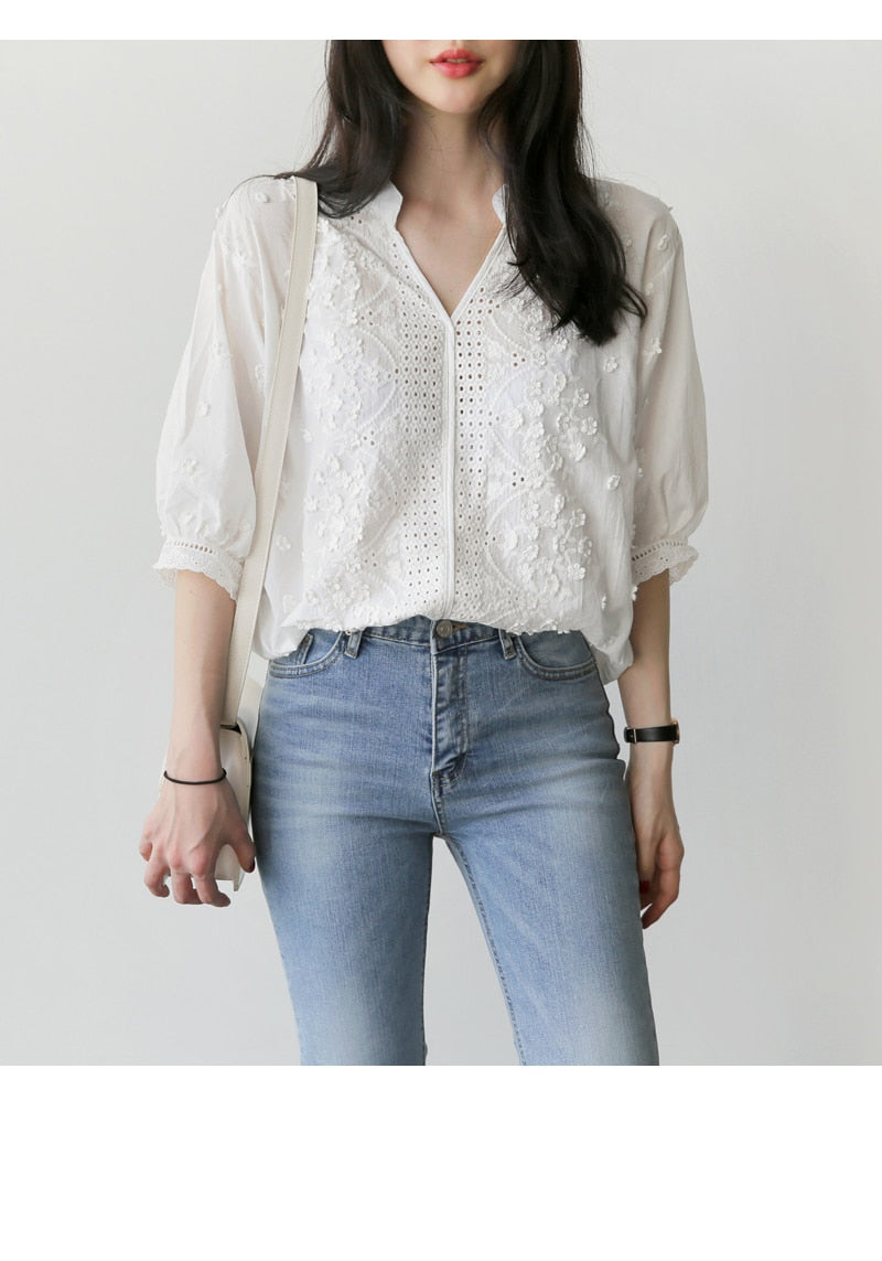 Floral Pattern Casual Blouse Woven Trends