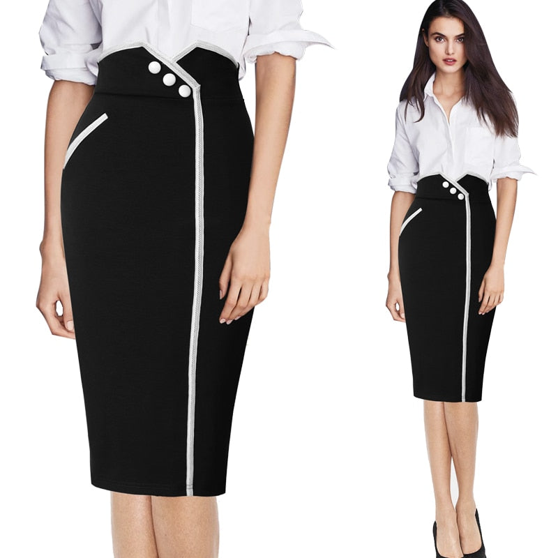 Helen Hug Bodycon Pencil Skirt Woven Trends