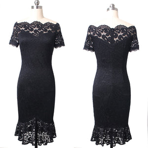 Gemma Lace Pin-up Cocktail Party Dress Woven Trends