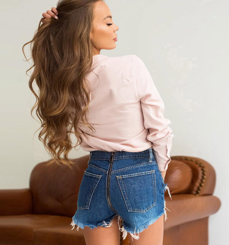 Addy Tassel High Waist Shorts - Woven Trends