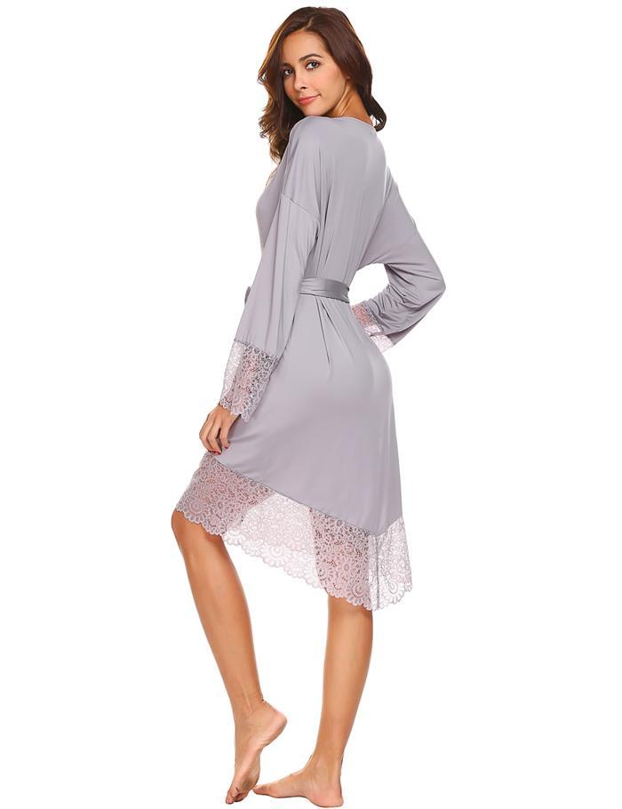 Amelia Sexy Sleepwear Night Robe Woven Trends