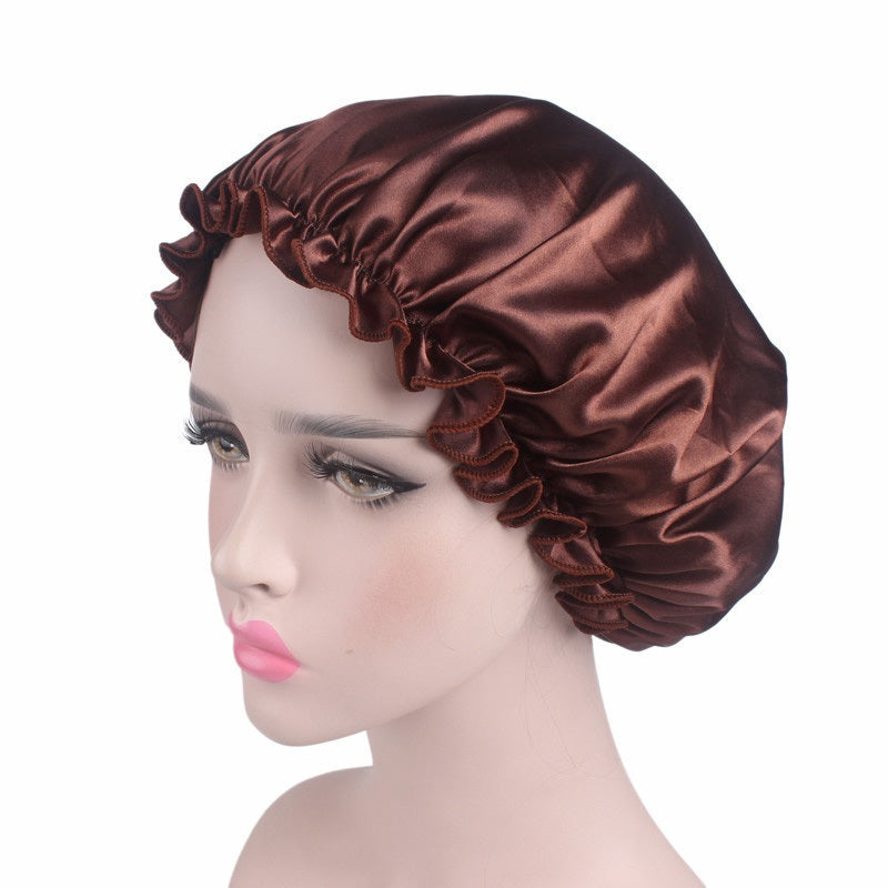 Satin Night Cap Hair Bonnet - woven-trends
