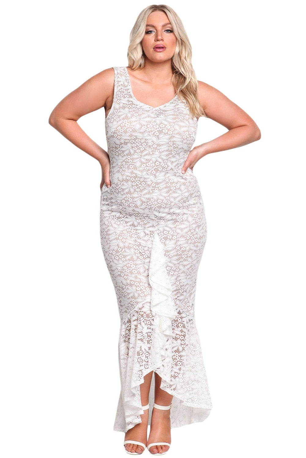 Josephine Plunge Mermaid Elegant Plus Size Party Dress Woven Trends