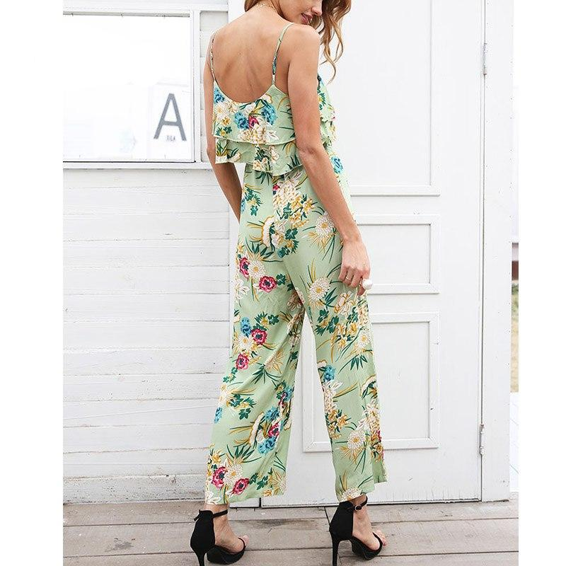 Adelaide Chiffon Floral Print Romper Jumpsuit - woven-trends
