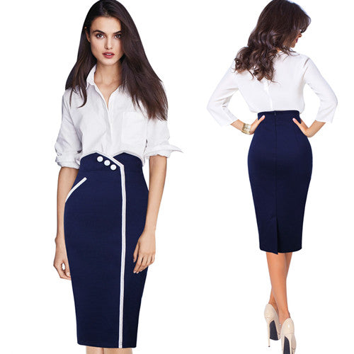 Helen Hug Bodycon Pencil Skirt - woven-trends