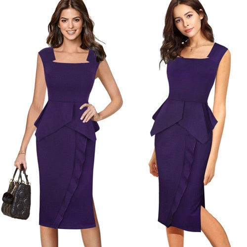Gemma Square Neck Cocktail Dress Woven Trends