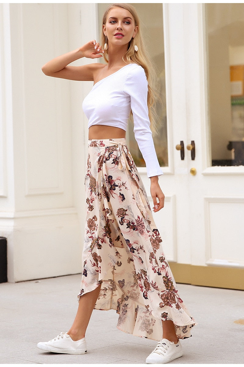 Catalina Wrap Boho Maxi Skirt - woven-trends