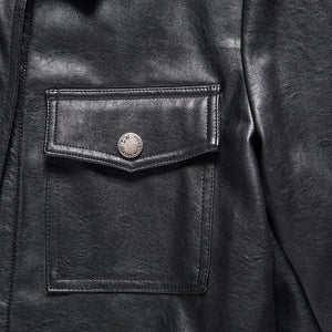 Single Breasted Full Sleeve Biker Jacket