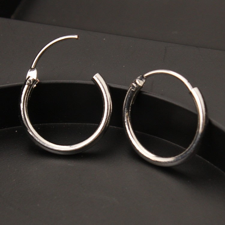 Anne Fine Fashion Circle Hoop Earrings - Woven Trends