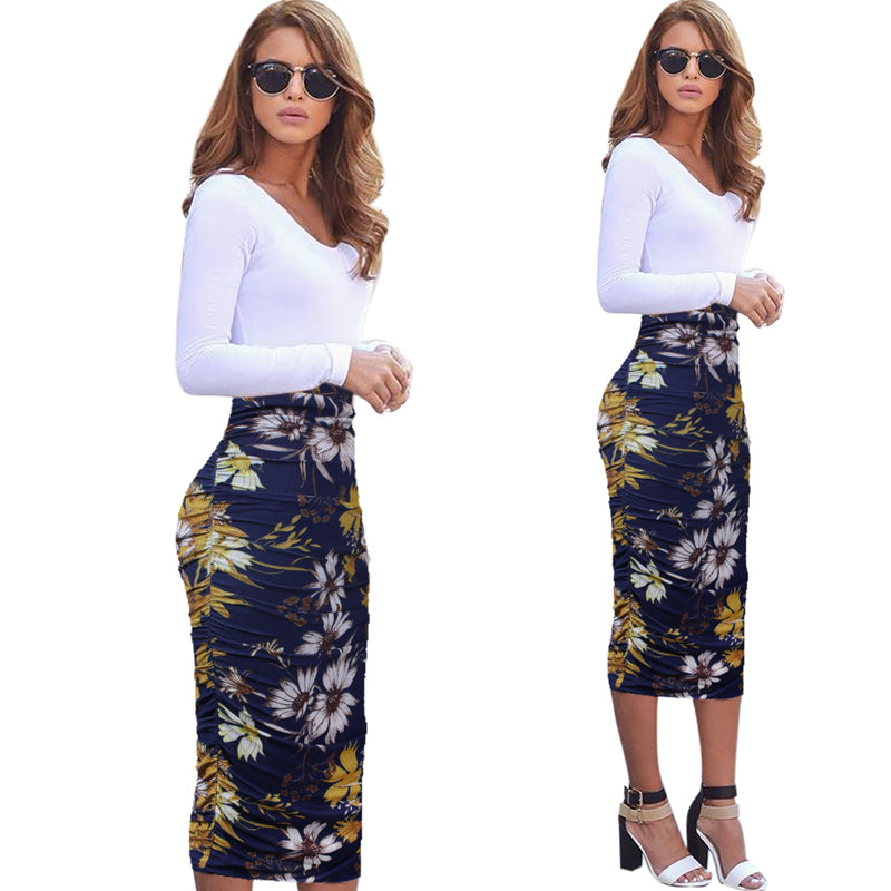 Dorothy Frill Ruffle Pencil Skirt Woven Trends