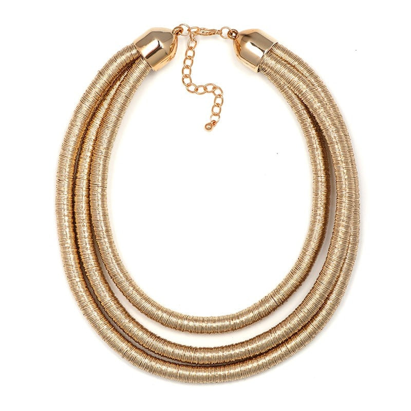 Juliet Juran Vintage Shiny Wrap Choker Necklace - Woven Trends