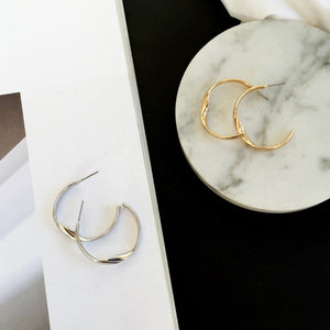 Esther Wave Letter C Stud Earrings - Woven Trends