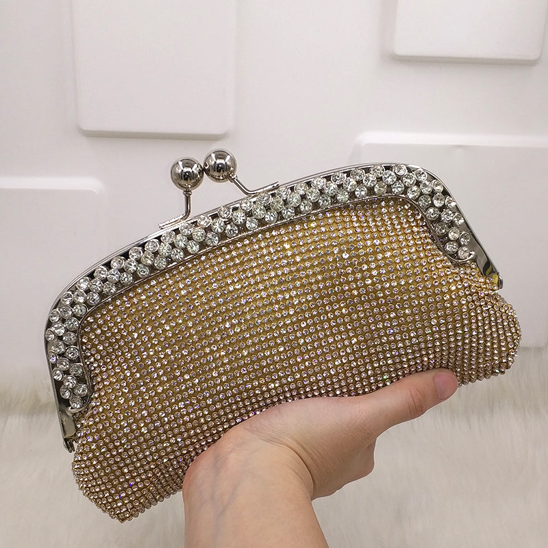 Audrey Diamonds Clutch Designer Bridal Purse Woven Trends