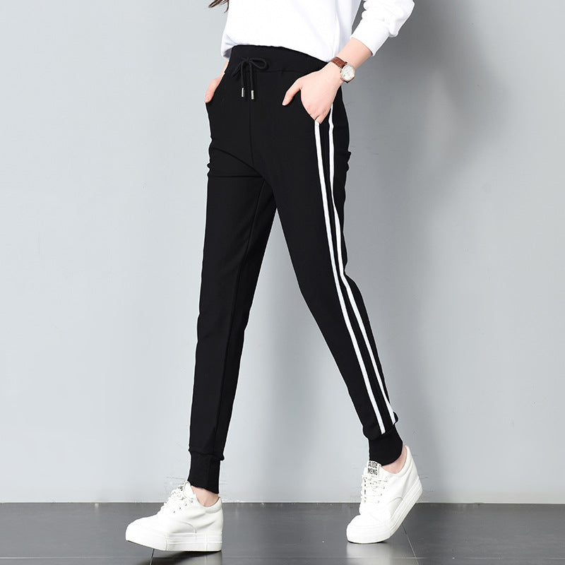 Leandra Double Striped Jogger Sweatpants