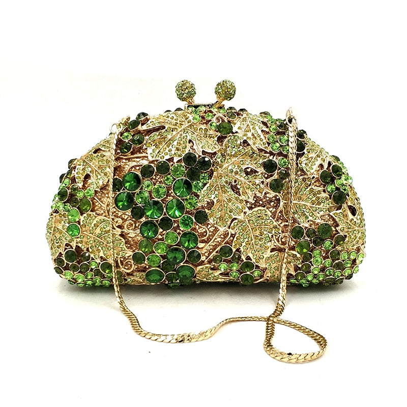 London Luxury Rhinestone Evening Bag Woven Trends