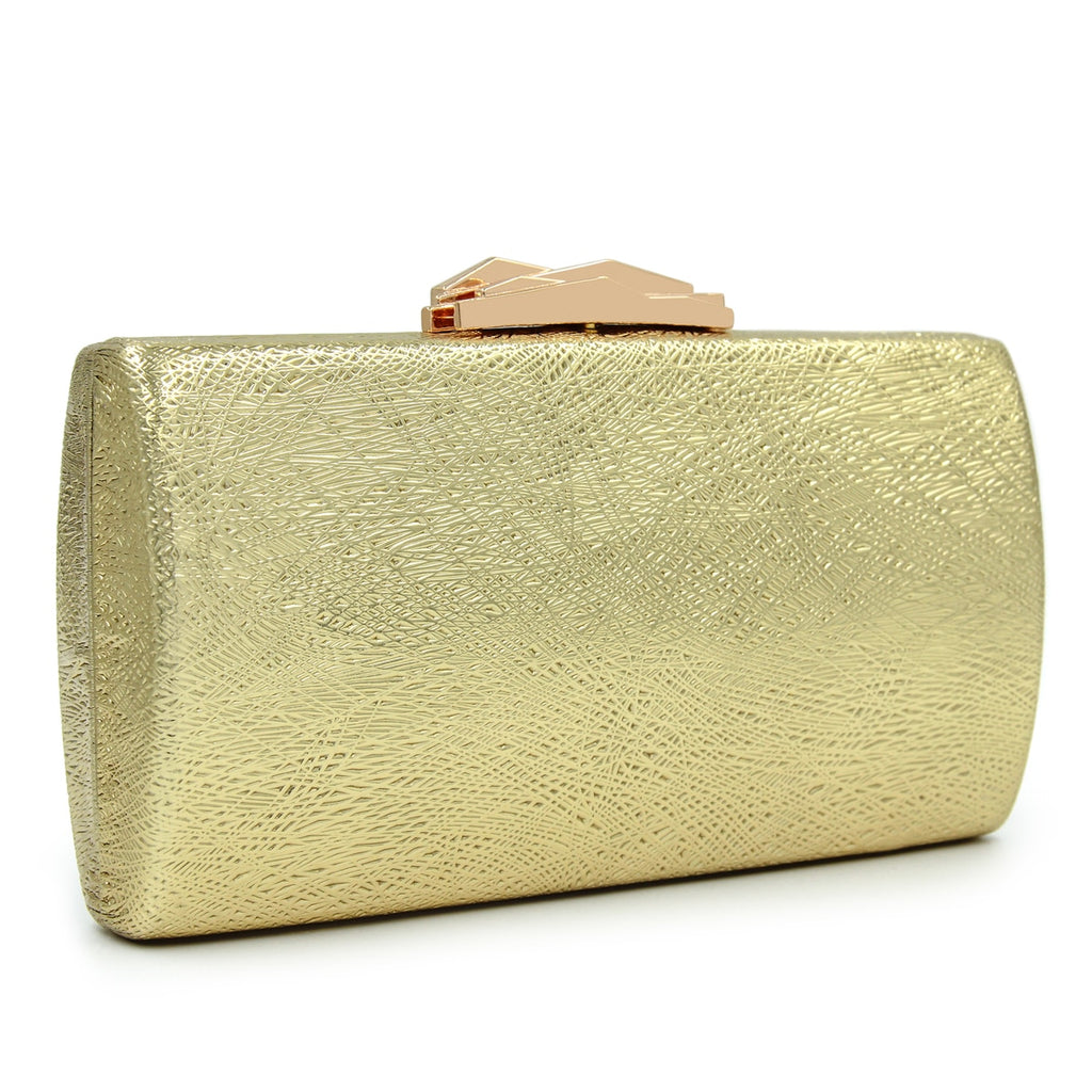 Glam Girl Box Clutch Evening Bag Woven Trends