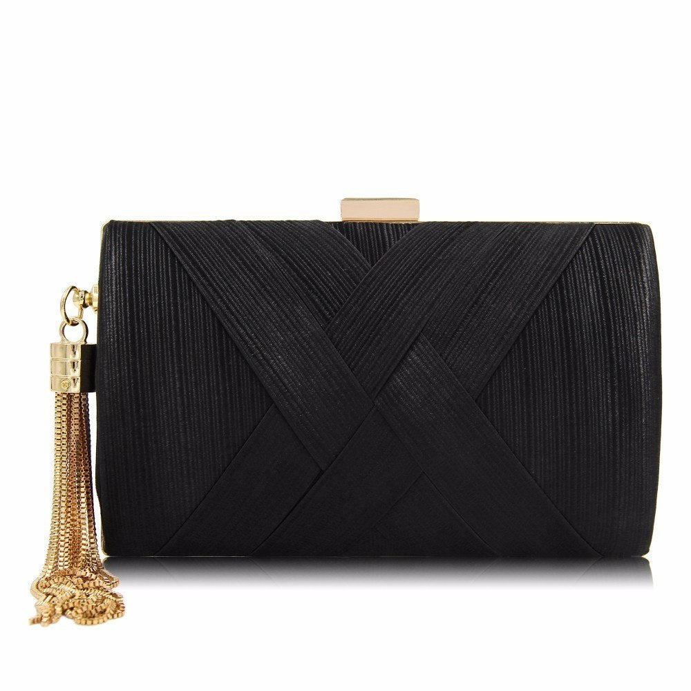 Casual Girls Evening Clutch Bag Woven Trends