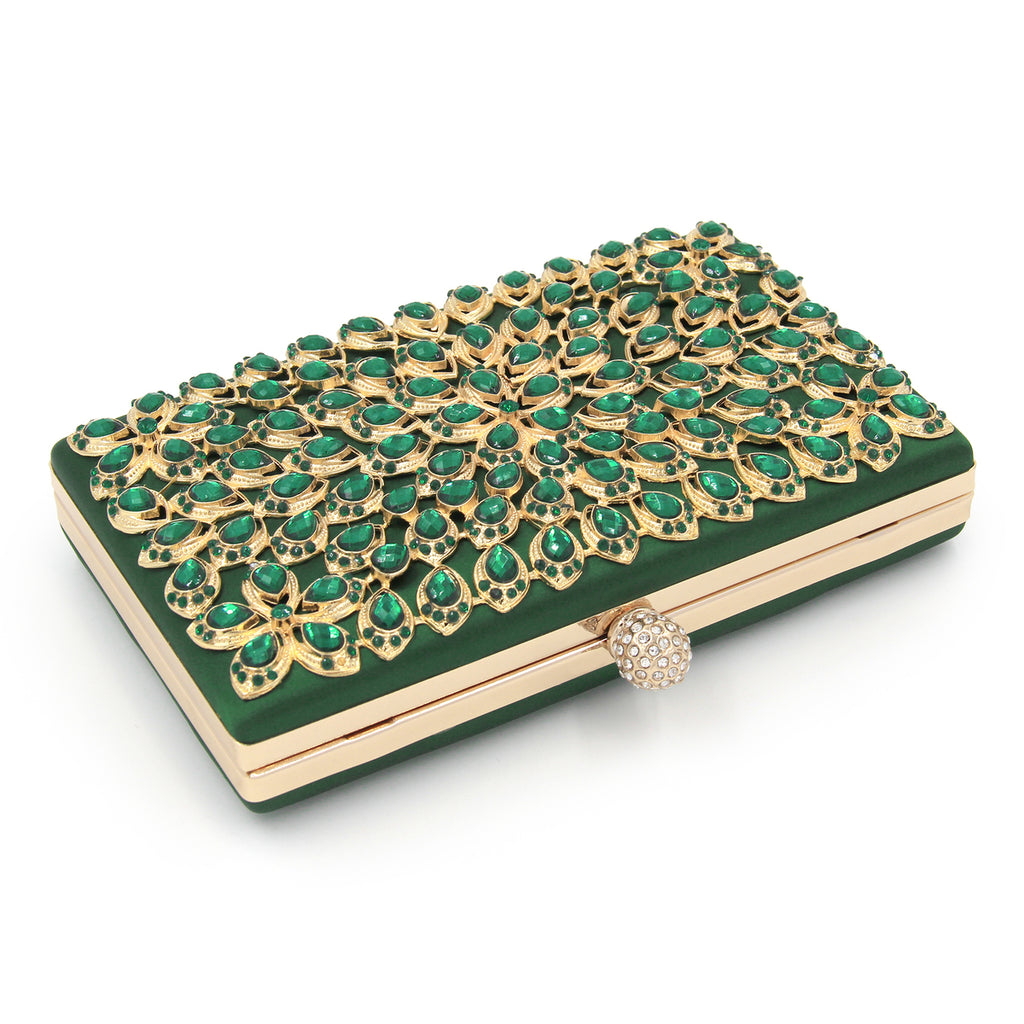 Gem Beaded Clutch Evening Bag Woven Trends