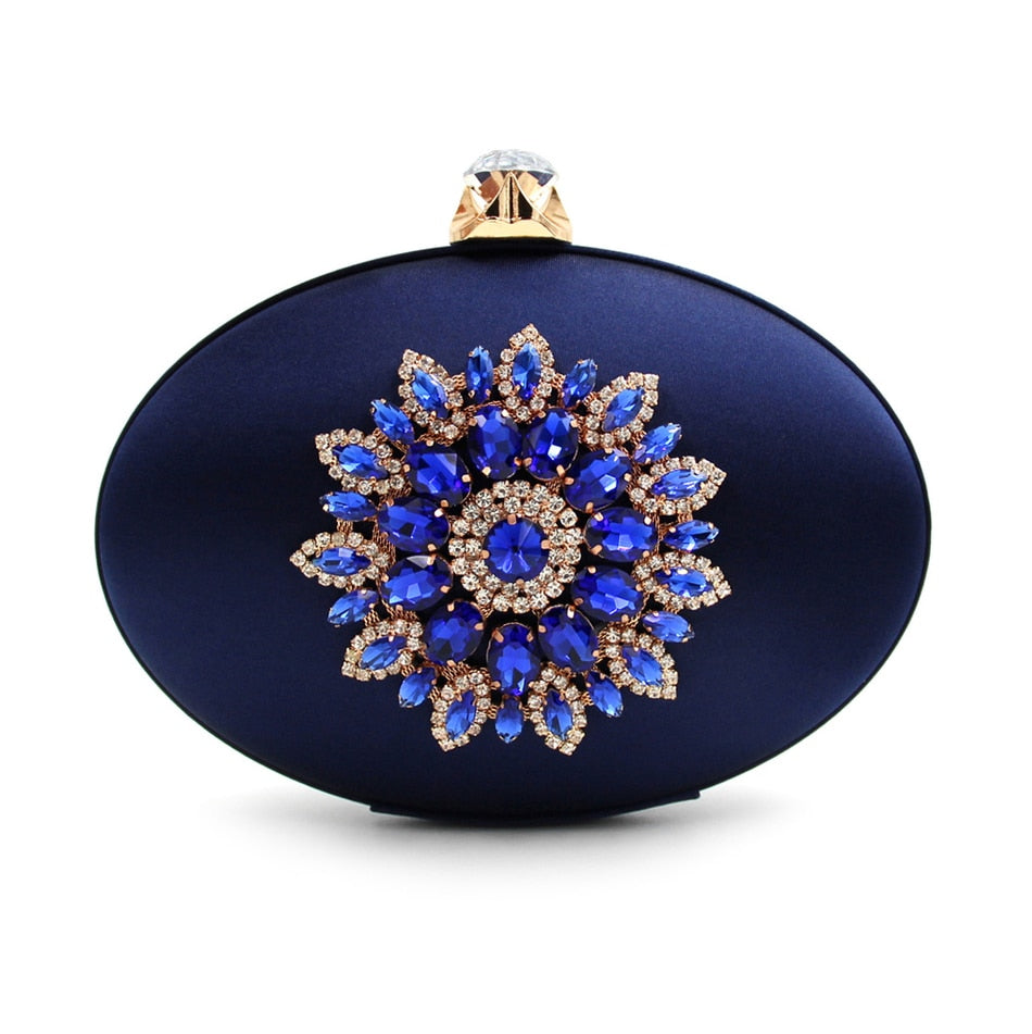 Uminka Diamond Flower Evening Purse