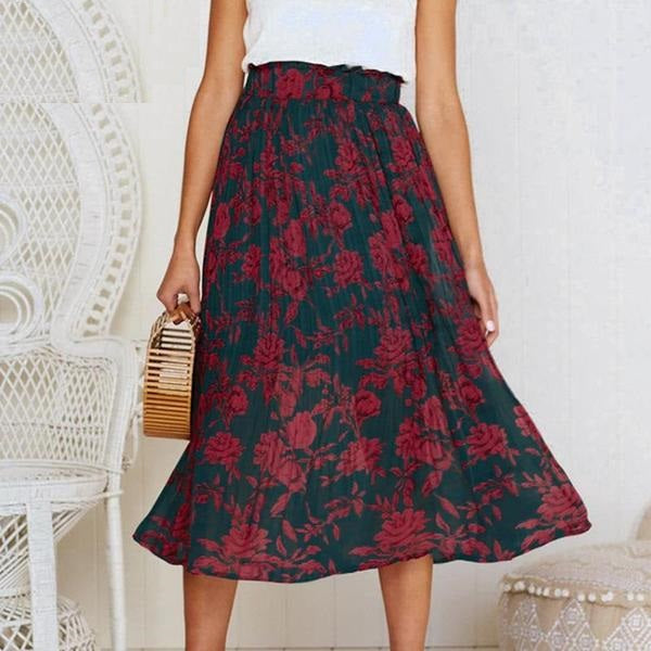 Bohemian Dot Print Vintage British Summer Skirt - woven-trends