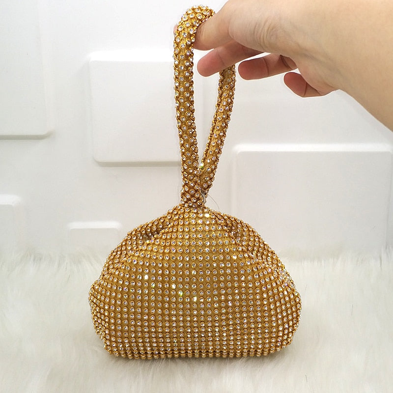 Double Sided Glitter Effect Evening Bag Woven Trends