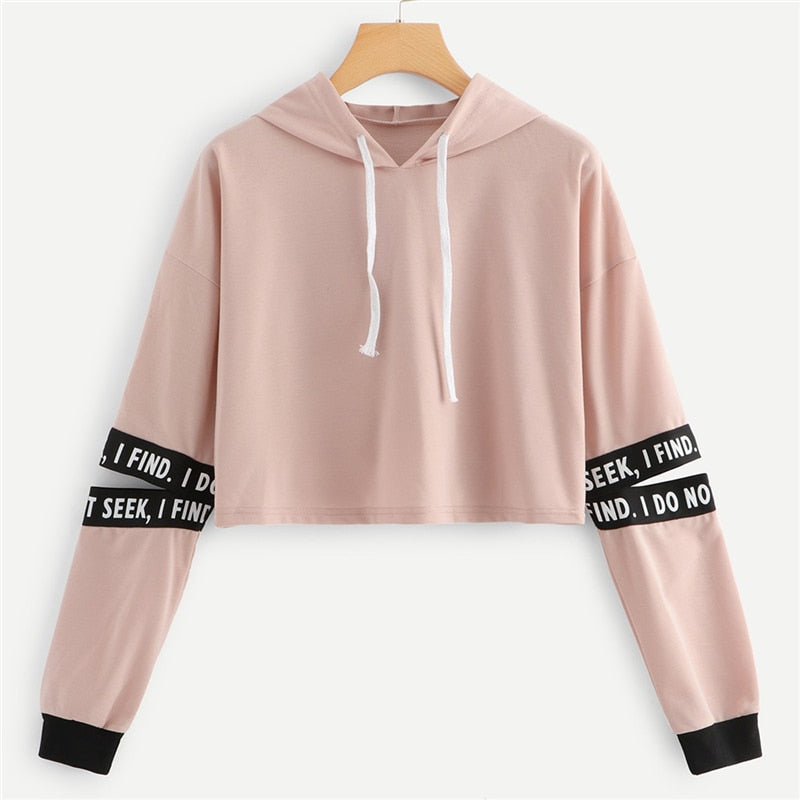 Gabrielle Letter Drawstring Hoodie - Woven Trends