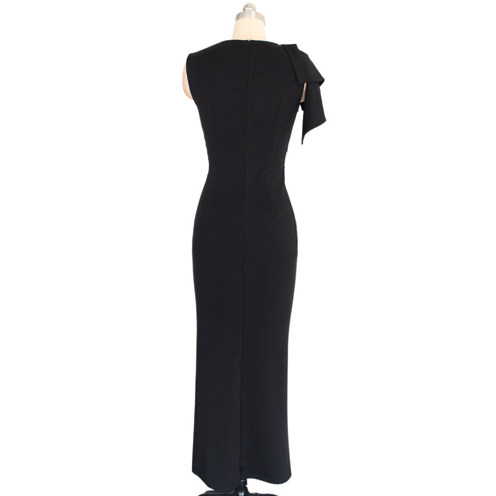 Adjustable High Slit Ankle Length Maxi Dress Woven Trends