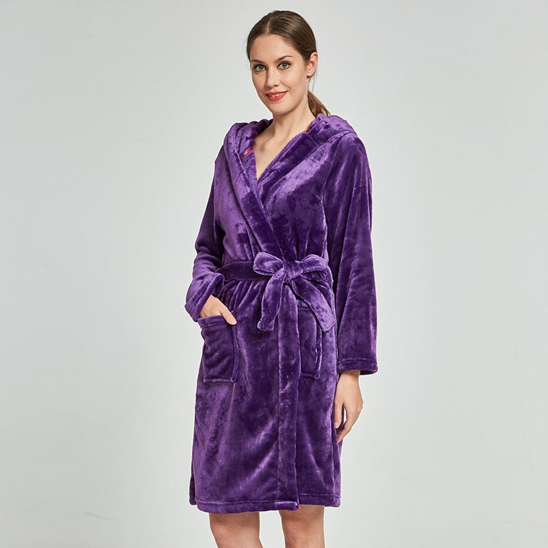 Ashley Thick Hooded Bathrobe Woven Trends