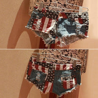 Angelina Rip Denim Hotpants - woven-trends