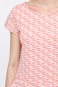 Braylee Peplum Abstract Print Top - Woven Trends