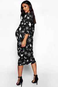 Katelynn Maternity Halloween Ghost Bodycon Dress - Woven Trends