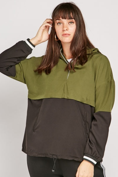 Sandra Block Design Casual Hooded Jacket-Woven Trends