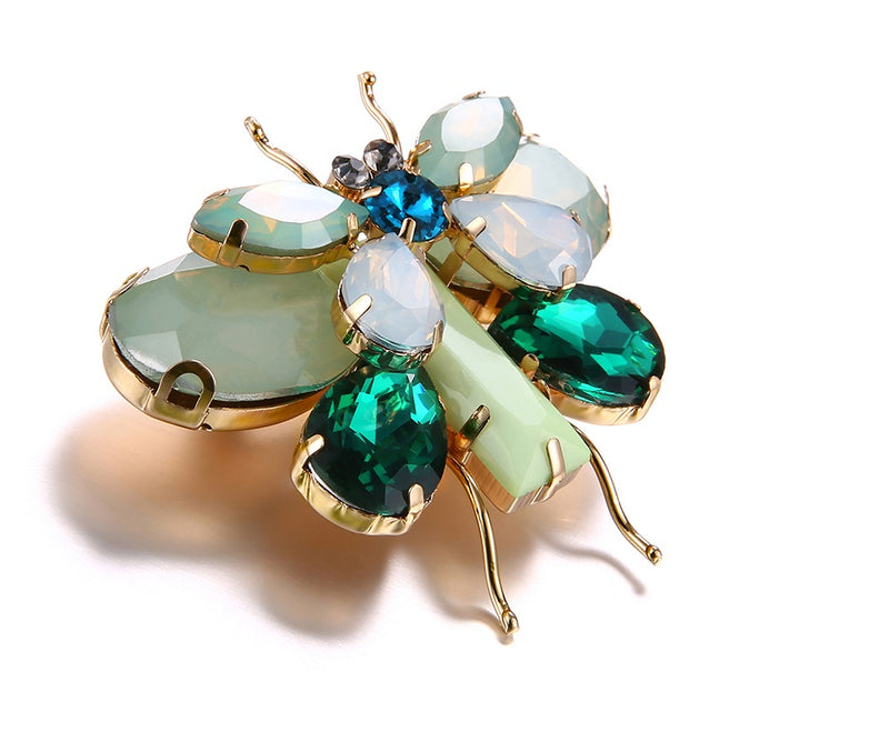 Butterfly Gem Crystals Brooch Woven Trends