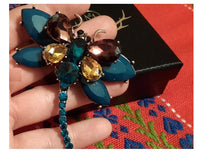 Colour Mix Dragonfly Brooch Woven Trends