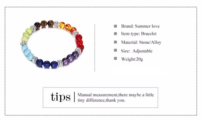 7 Chakra Healing Bead Mix Bracelet With Natural Lava Stone Woven Trends