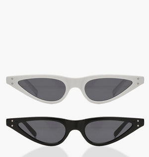 Julissa Double Pack Skinny Cateye Sunglasses - Woven Trends