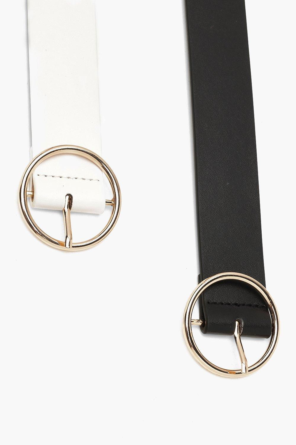 Two Pack Ring Circle Buckle Belt - woven-trends